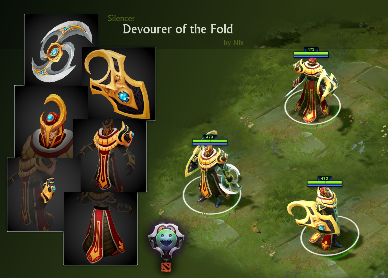 dota2 silencer face shield set polycount